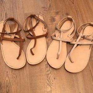 (2) Pairs LOFT Sandals